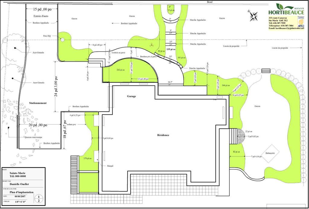 Plan et croquis hortibeauce for Plan implantation maison