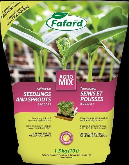 Terreau Agro Mix pour semis et pousses (Bio)  10 L, Fafard