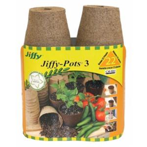 Jiffy-Pots 3 pouces, pqt 22