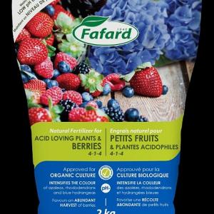 Engrais naturel Petits fruits et plantes acidophiles (4-1-4) 6Kg