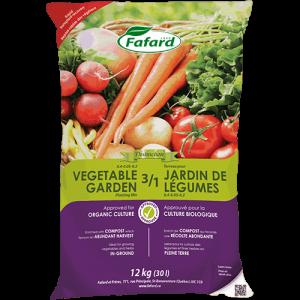 Terreau 3/1 pour jardin de légumes (bio)